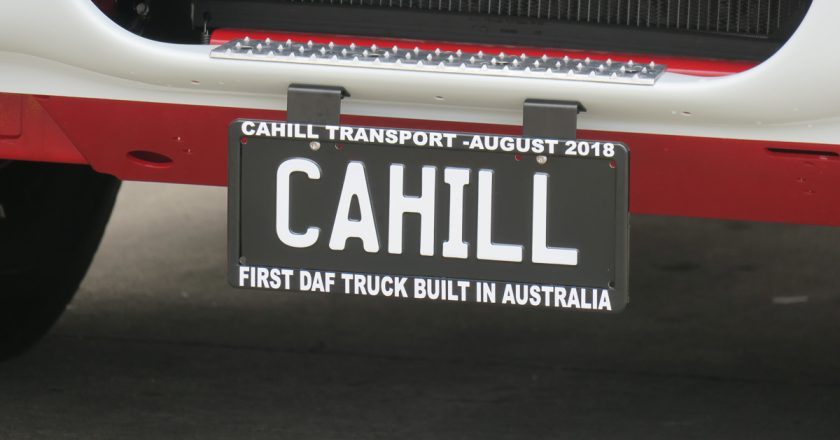 first DAF truck assembled in Australia