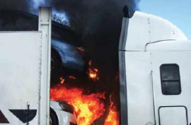 truck fire investigation