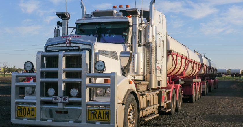 small fleet of multiple combination trucks