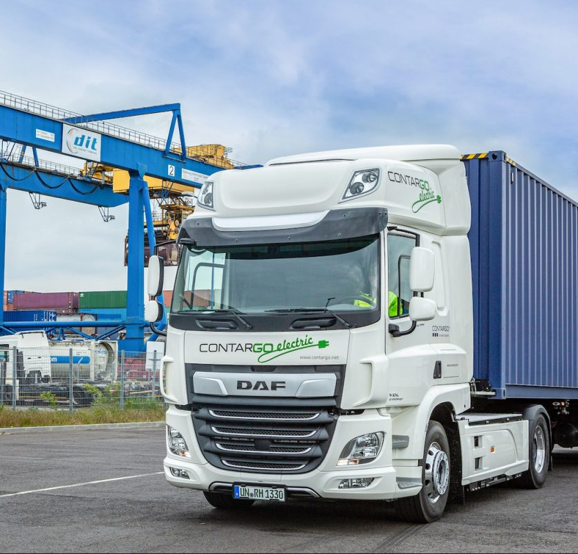 electric DAFs for hauling containers