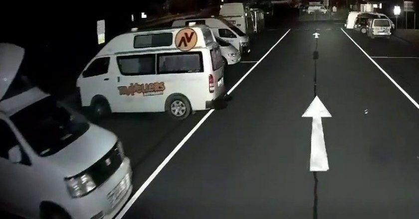 the ongoing war between caravans and trucks