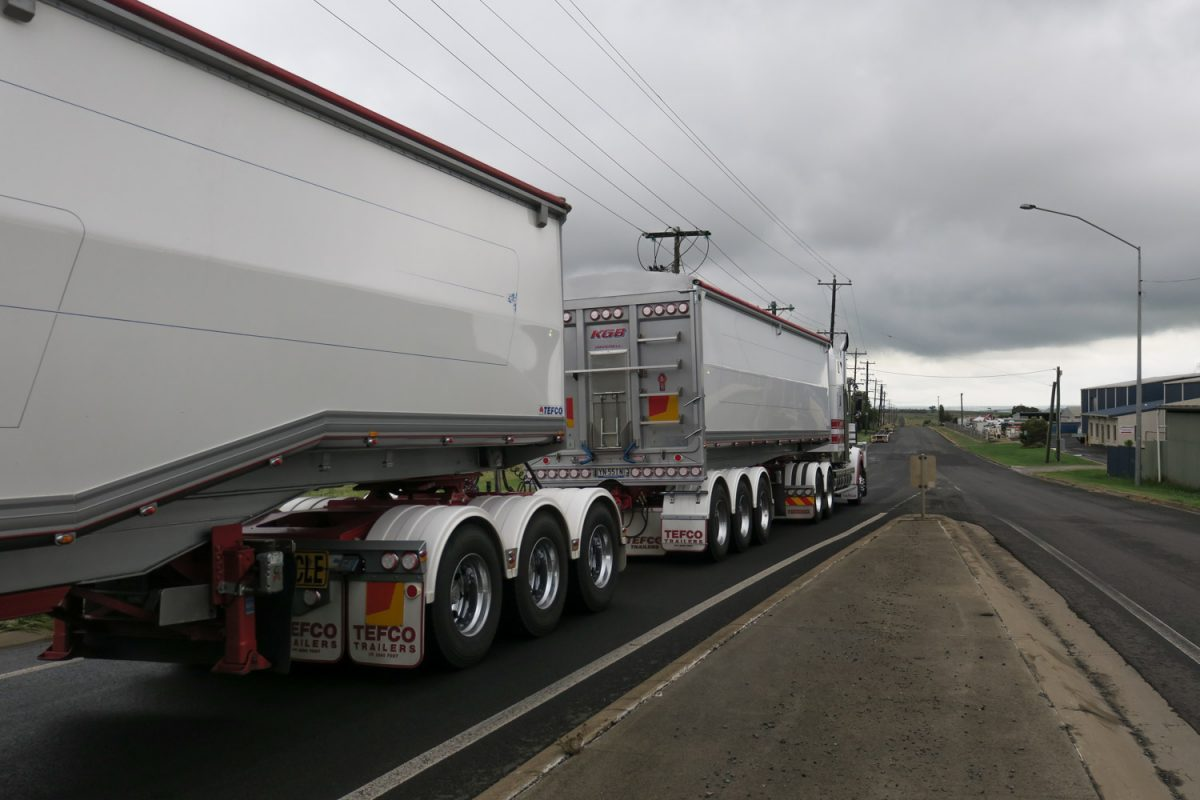 grain haulage and A-doubles