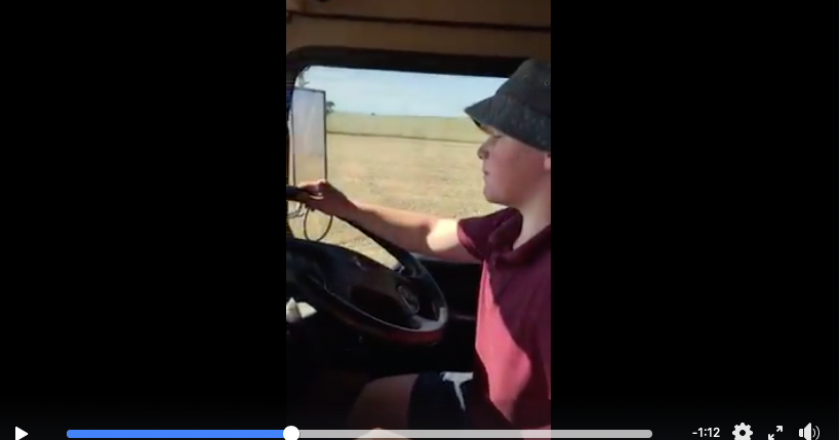 getting started driving trucks at a young age