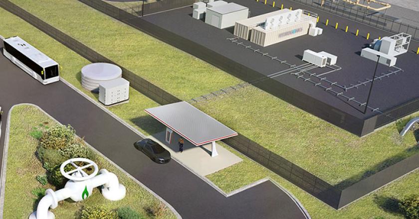 first hydrogen gas facility