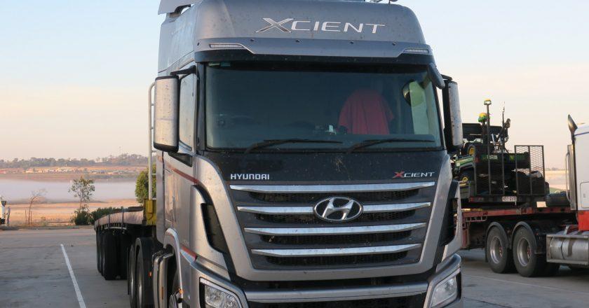 trucking operators using a Hyundai Xcient