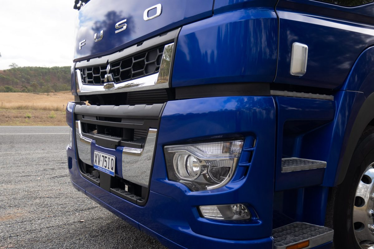 truck on test is the new Fuso prime mover