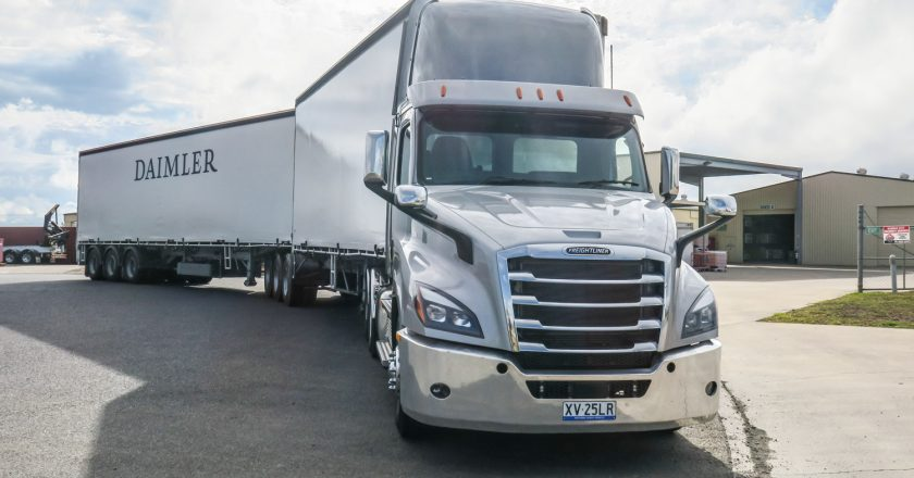 the Freightliner take, on an ultra-modern truck