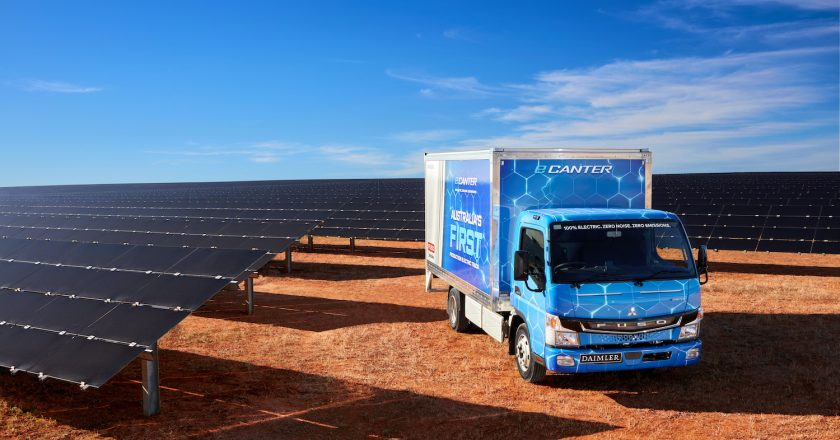 first OEM electric truck launched by Fuso