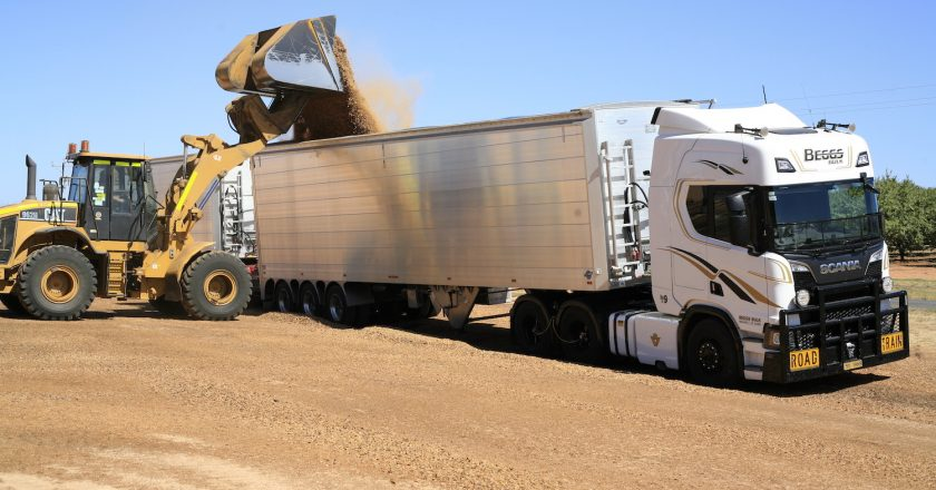 hauling stock feed over long distances