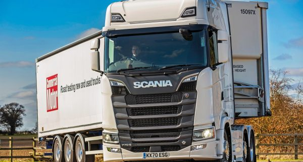 behind the wheel of the Scania 770S