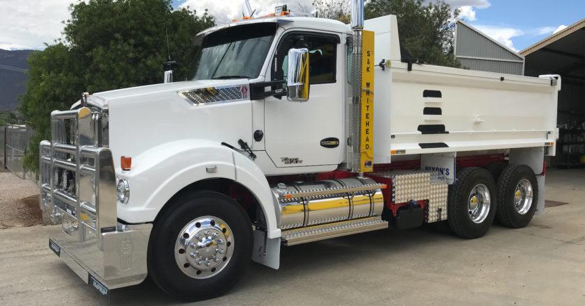 a fleet of mainly Kenworth trucks