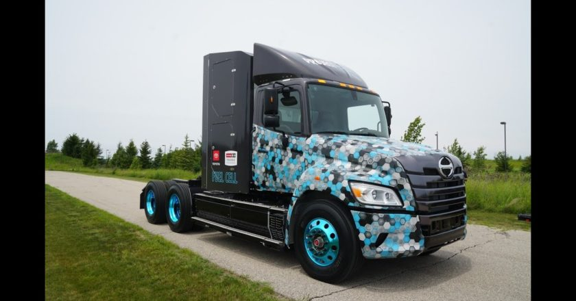 a heavy duty hydrogen fuel cell electric truck