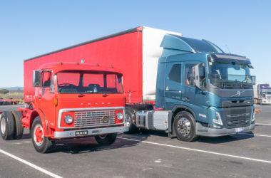 testing trucks 50 years apart