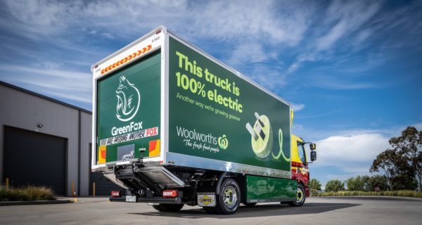 electric truck is going into the Woolworths fleet